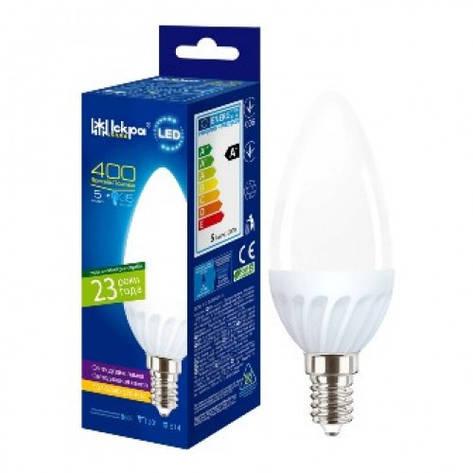 LED Lamp Іскра C37 220В 5Вт 3000K E14, фото 2