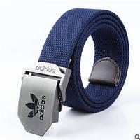 Ремень текстильный темно-синий Adidas