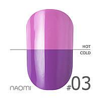 Термо гель лак Naomi №3 6 мл