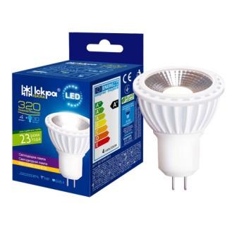 Лампа LED Іскра MR16 12В 5,1 Вт GU5,3