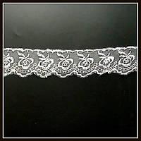 Кружево на нейлоне Роза, цвет айвори