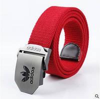Ремень текстильный красный Adidas (реплика)