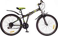 """Велосипед 26"""" Formula HUMMER AM 14G Vbr рама-15"""" St черно-зеленый с крылом Pl 2017"""