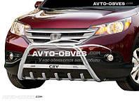 Кенгурятник для Honda CR-V 2013 - 2016 (логотип, AISI304)