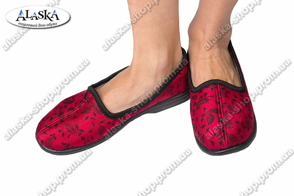 Женские тапочки красные (Код: Литма)