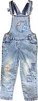 Детский джинсовый комбинезон, 5-7 лет, на девочку, Турция, оптом