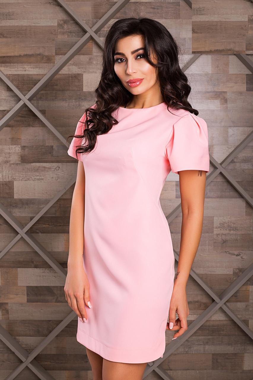 d1e2b0a04a8366e Красивое Короткое Платье Рукава Фонарики Розовое XS-XL - Ukraine In Trend -  100%
