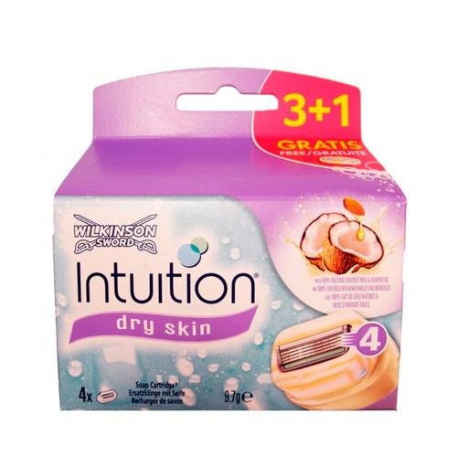 Wilkinson Intuition Pure Nourishment Refills сменные картриджи 3 + 1 шт в упаковке