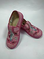 Текстильные туфли - тапочки для девочки Смурфиня Мила 121-311