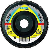 Лепестковый торцевой круг Klingspor SMT 325 Extra (P40/60/80), 125*22