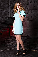 Красивое Короткое Платье Рукава Фонарики Мятное XS-XL