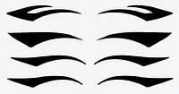 Временный татуаж для глаз. Идеальные стрелки наклейки для глаз, апликаторы, подводка. Набор №1