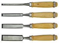 Набір стамесок 4шт. 6-12-18-24мм, дерев.ручка (43-300)