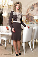 Элегантное женское трикотажное платье  50-56рр