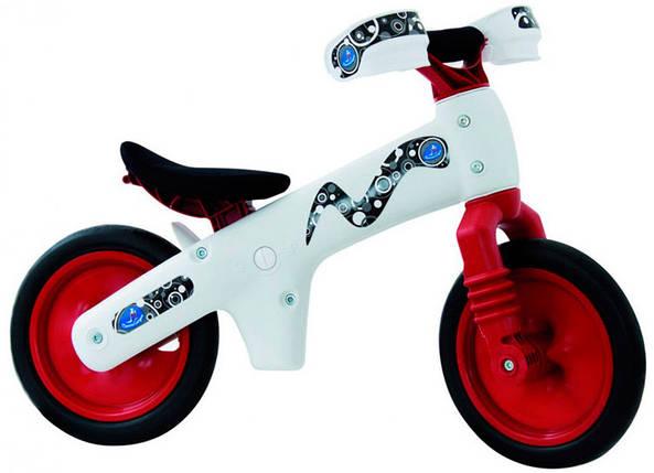 Велосипед (беговел) BELLELLI B-Bip Pl обучающий 2-5лет,пластмасс. Бело-красный, фото 2