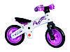 Велосипед (беговел) BELLELLI B-Bip обучающий 2-5лет, пластмассовый, белый с розовыми колёсами