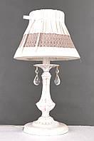 Настольная лампа Colors MТ 38422/1 слоновая кость/ткань/хрусталь