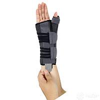 Бандаж для лучезапястного сустава и суставов большого пальца с анатомическими шинами ЕН-404 (пр); ЕН-403 (лев)