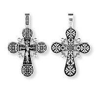 Крест серебряный православный Распятие Христово 8709-R