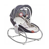 Кресло - кроватка - качалка «Tiny Love» Мамина любовь 3 в 1 с капюшоном, цвет серый (1801706130)