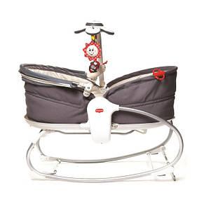Кресло - кроватка - качалка «Tiny Love» Мамина любовь 3 в 1 с капюшоном, цвет серый (1801706130), фото 2