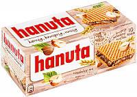 Вафельки Hanuta kernig, knusprig, nussig - с шоколадно ореховой начинкой