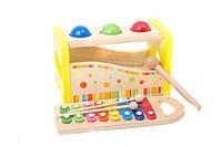 Деревянная игра Ксилофон, молоточек, шарики 0519 (24) в коробке - 691466000519