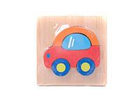 Деревянная игра Рамка-вкладыш 0522 (120) 6 видов, в кульке - 691466000522