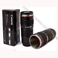 Термокружка Объектив Caniam 200mm, чашка-термос, кружка в виде объектива, термочашка, чашка объектив