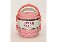 Термос Hello Kitty для еды (2 отделения) 1,4л T83, пищевой термос