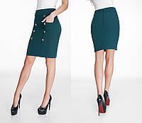 Женская юбка из стрейч трикотажа