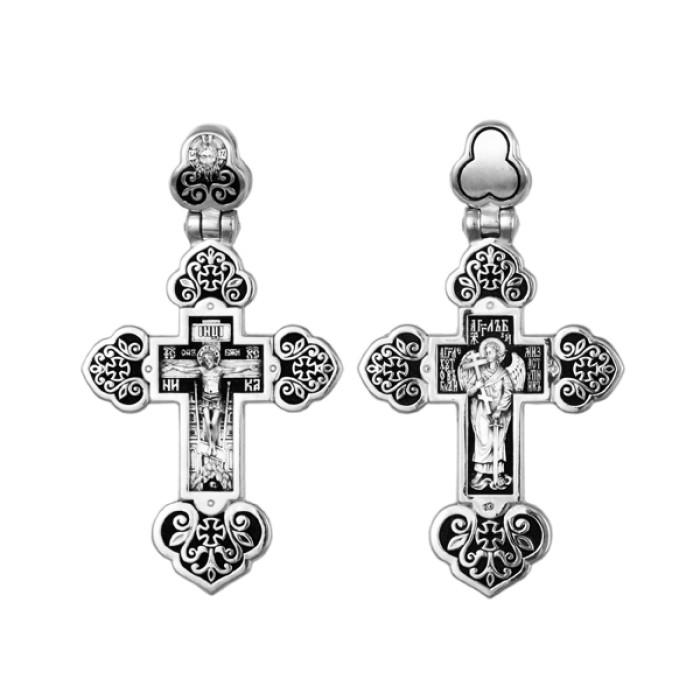 Крест серебряный Распятие Христово. Ангел Хранитель  8711-R