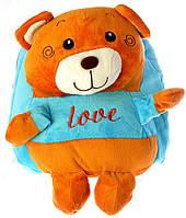 """Детский рюкзак игрушка """"Мишка"""" голубой 0407, фото 1"""