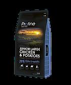 Profine Junior Large Breed 15 кг курица, профайн для щенков и юниоров крупных пород собак