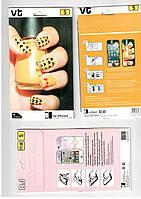 Защитная плёнка iphone 5 , 5S перед-зад, 2 стороны! Рисунок.