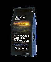 Profine Junior Large Breed 3 кг курица, профайн для щенков и юниоров крупных пород собак