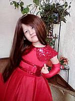 Нарядное платье с воротничком Аниме красного цвета