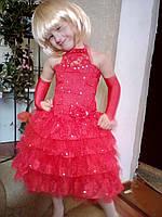 Нарядное длинное платье для девочек Барби мини америконочка маленькая
