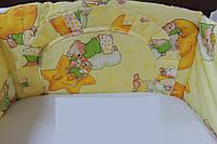Защита на бортики кроватки для новорожденного