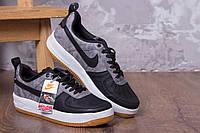 Мужские кроссовки Nike Lunar Force серо-чёрные