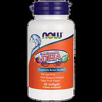 Докозагексаеновая кислота -витаминки ДГК для детей с фруктовым ароматом / Kids Chewable DHA, 60 гелевых капсул