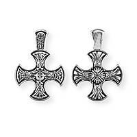 Крест серебряный Голгофский крест. Православный крест. 8713-R