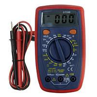 Электронный тестер мультиметр DT33B, зумер, память, подсветка, тест батареек и диодов