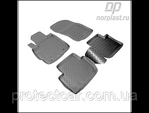 Ковры салонные для Mitsubishi Outlander XL (2006-2012) черные