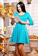 42,44,46,48,50 размеры Платье Габриелла бирюзовое голубое женское батал красивое весеннее осеннее короткое