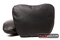 Подголовник автомобильный из перфорированной кожи Leonica ✓ 1шт. ✓ цвет: черный