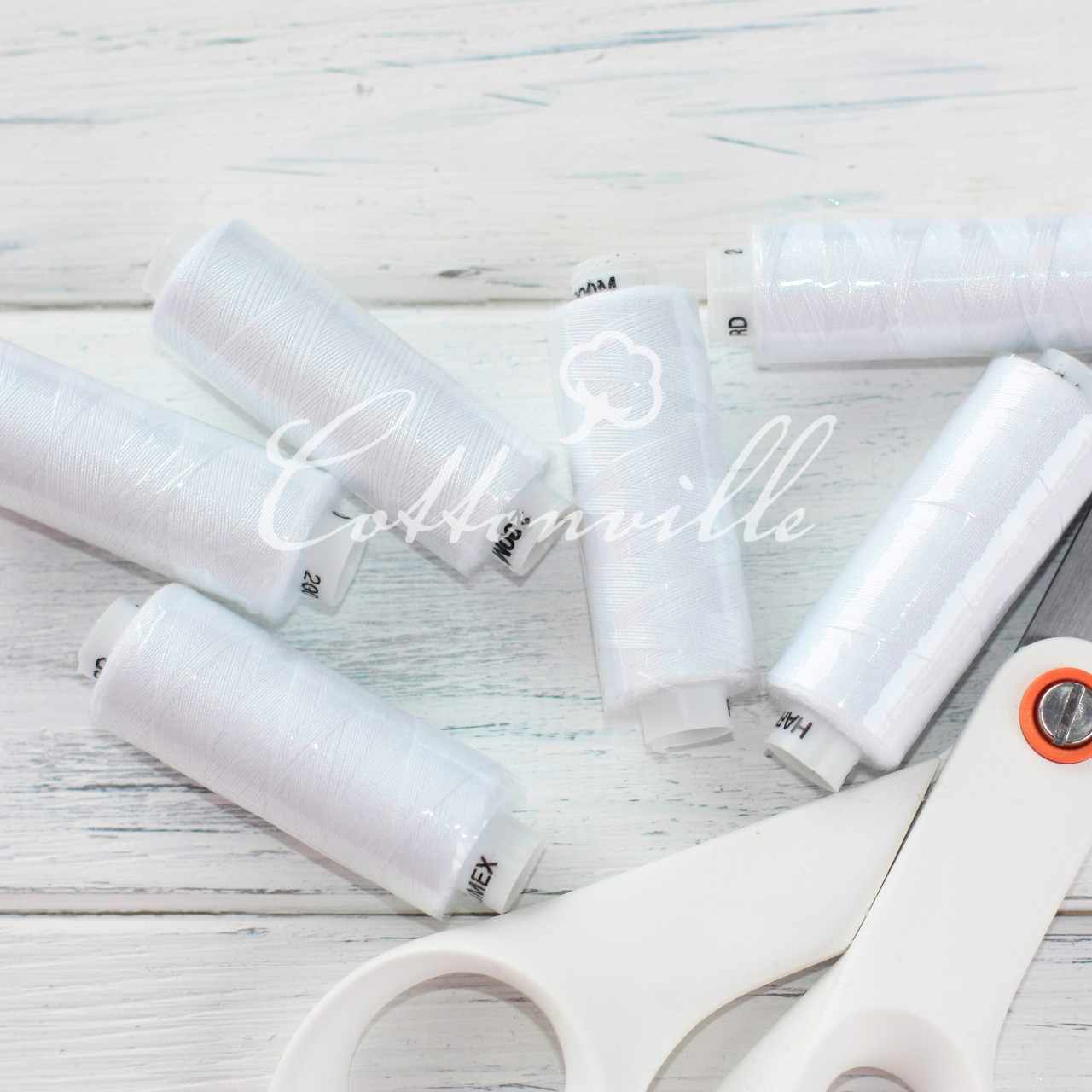 Нитки швейные 40s/2 прочные (200 м) цвет белый