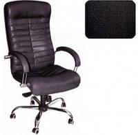 Кресло Орион HB Хром механизм Anyfix Кожа-Сплит чёрная.