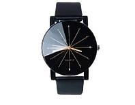 Наручные черные кварцевые часы код 153