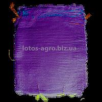 Сетка овощная 40х60 см  20 кг фиолетовая (мешок сетка для овощей)